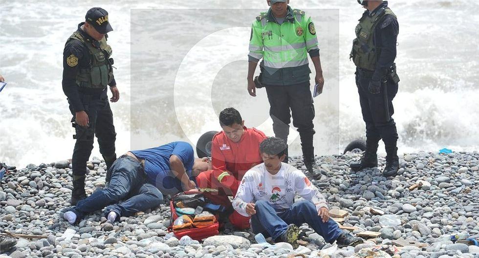 Así fue el rescate de las personas que cayeron a la playa Marbella tras volar en parapente (VIDEO)