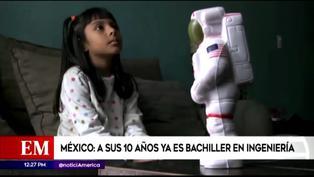México: Niña de 10 años se graduó como bachiller en Ingeniería y ahora estudia dos carreras (VIDEO)