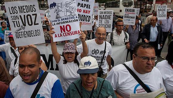 Venezuela: Periodistas marchan para exigir respeto a la libertad de expresión