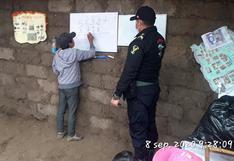 Policías dictan clases a escolares que no cuentan con Internet en zona alejada de Andahuaylas (FOTOS)