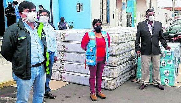 Pisco: Entregan colchones para albergues con pacientes con el virus