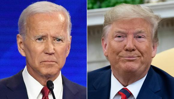 Esta no es la primera vez que el presidente de Estados Unidos acusa a Joe Biden de usar drogas para superar debates electorales. (Foto: SAUL LOEB, Robyn BECK / AFP)