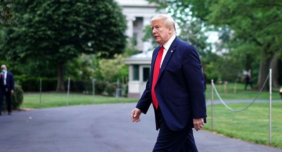 El presidente de los Estados Unidos, Donald Trump, regresa a la Casa Blanca en Washington, DC, luego de una visita a una planta de Ford en Michigan. (Foto: AFP/MANDEL NGAN)