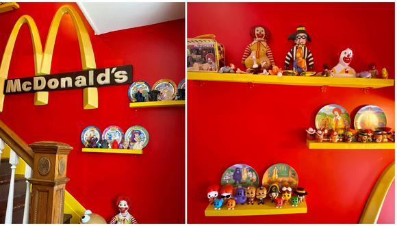 Fanática de la comida rápida transformó su casa en un santuario de conocido fastfood. (Fotos: Facebook)