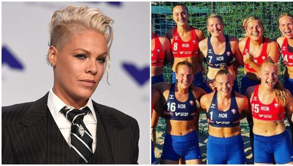 Cantante 'Pink' pagará multa de selección noruega de balonmano playa que se negó a jugar en bikini.