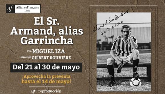 La obra protagonizada por el actor Miguel Iza será estrenada el próximo 21 de mayo. (Foto: Alianza Francesa de Lima)