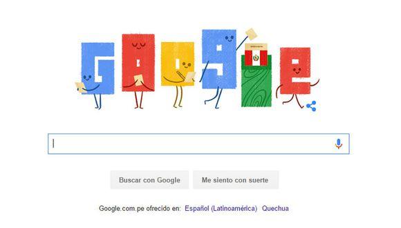 Google dedicó doodle a Segunda Vuelta