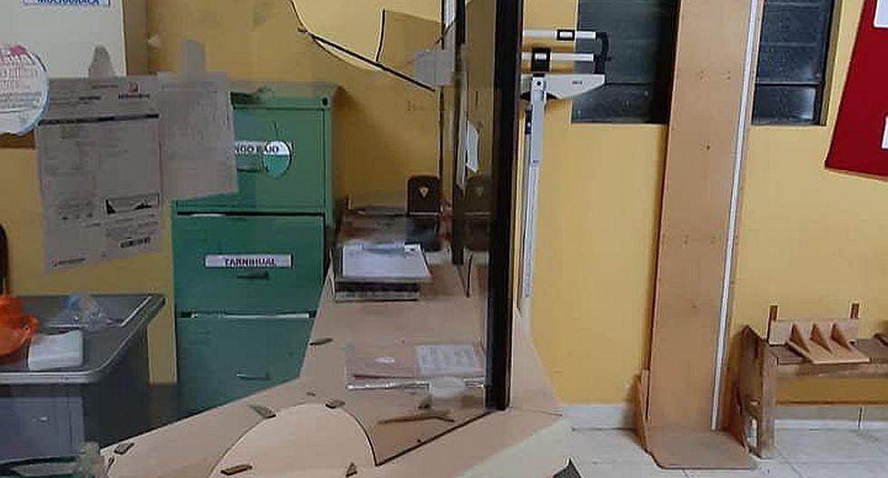 Maleantes intentan asaltar al personal de un puesto de salud en Otuzco