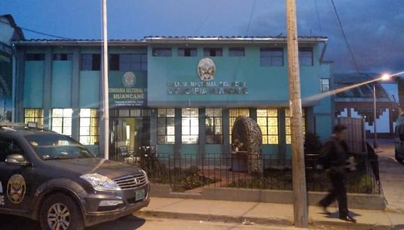 El presunto ladrón fue trasladado a la comisaría de Huancané. (Foto: Difusión)
