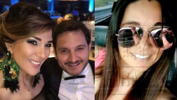 """""""No entiendo"""", respondió Jiménez al ser consultada por las imágenes que se registraron con el padre de su hijo y actual pareja de Silvia Cornejo.(Foto: Magaly TV: La Firme)"""
