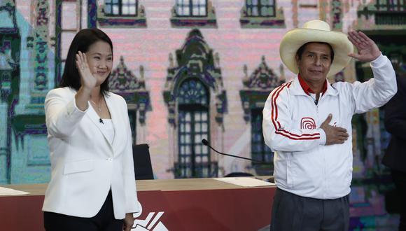 Keiko Fujimori y Pedro Castillo, candidatos presidenciales de Fuerza Popular y Perú Libre. (Foto: GEC)
