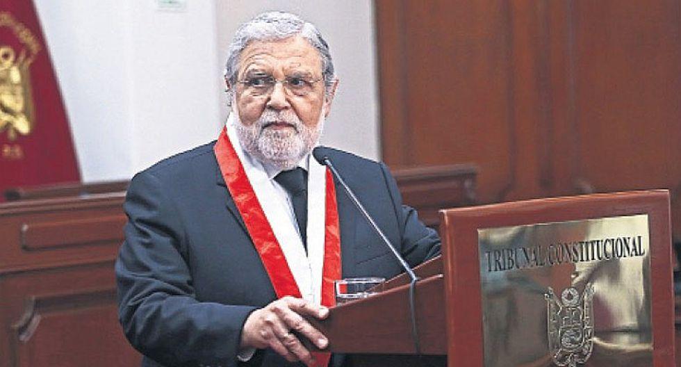 Ernesto Blume: Los fallos del TC son obligatorios y de carácter inamovible