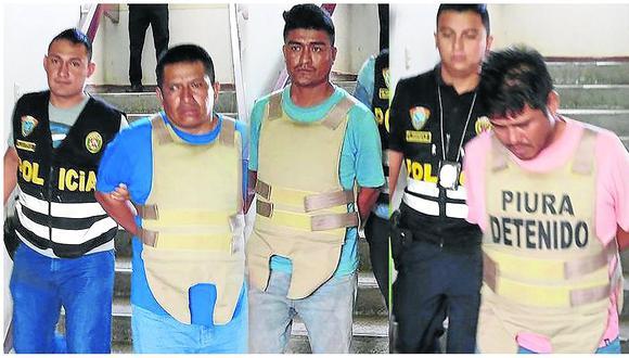 """Con un arma y una  granada capturan a  seis de """"Los Valencias de Chulucanas"""""""