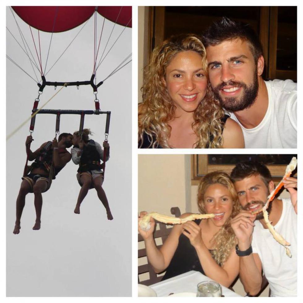 Así fueron las románticas vacaciones de Shakira y Piqué