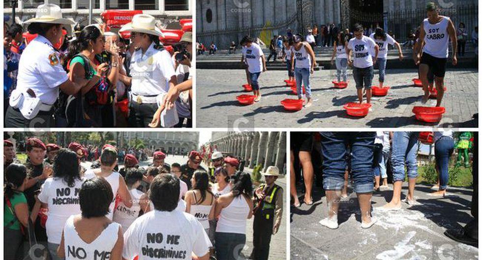 Arequipa: Jóvenes protestan exigiendo respeto a sus derechos pero son reprimidos por la PNP