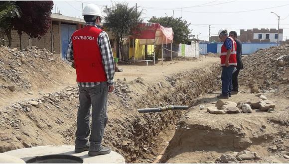 Recomiendan corregir problemas en ejecución de obra de saneamiento en Trujillo