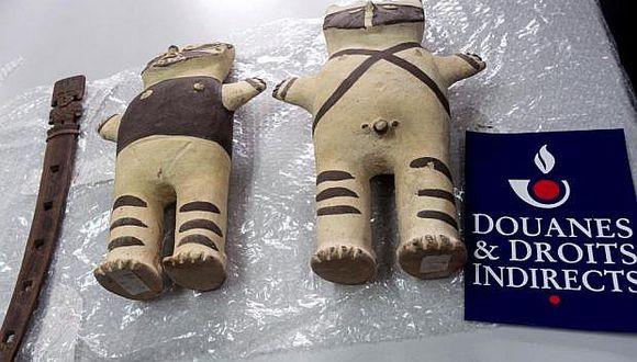 Francia devuelve al Perú tres piezas arqueológicas retenidas en París (VIDEO)
