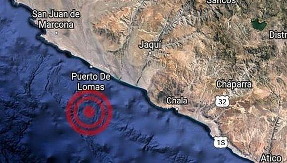 Temblor de 5.6 grados en la provincia de Caravelí en Arequipa