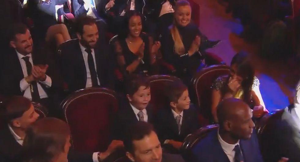 La reacción de los hijos de Messi tras el anuncio de su sexto balón de oro (VIDEO)