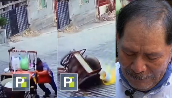 Anciano sufrió quemaduras tras caída en agua hervida cuando trabajaba. | Foto: Univisión.