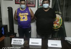Ica: Intervienen a dos sujetos en el distrito de Los Aquijes por tenencia ilegal de armas