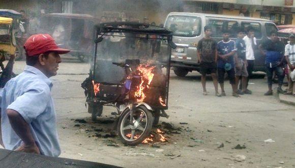 Chiclayo: Le queman su vehículo por invitar a tomar cerveza a su expareja, ya casada (VIDEO)