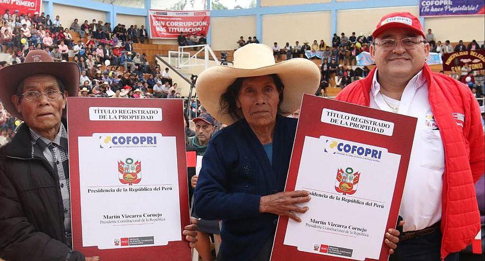 Presidente Martín Vizcarra entregará 3,519 títulos de propiedad para la región Junín