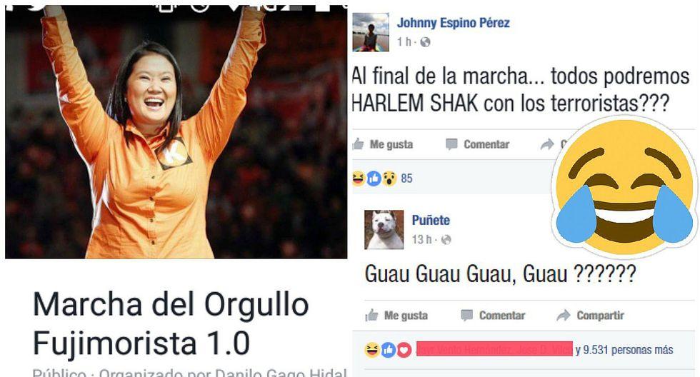 """Facebook: """"Trolls"""" hacen de las suyas con """"Marcha del Orgullo Fujimorista 1.0"""" (FOTOS)"""