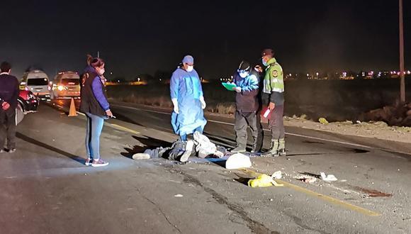 Accidente ocurrió la noche del sábado en el kilómetro 1322, en la jurisdicción del distrito de Caracoto. (Foto: Difusión)