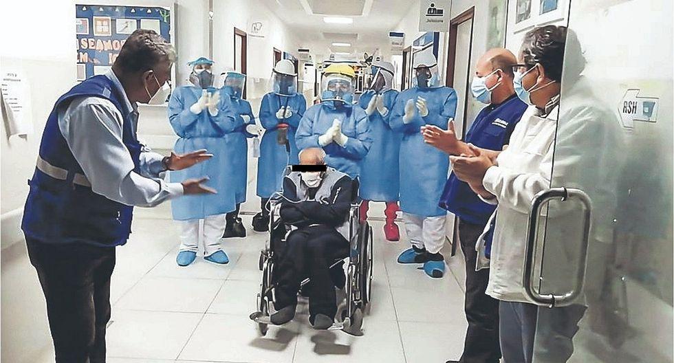 Chimbote: Dan de alta a anciano de 104 años tras vencer al coronavirus