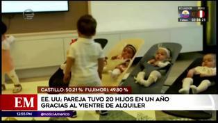 Pareja tuvo 20 hijos por vientre de alquiler en tan solo un año