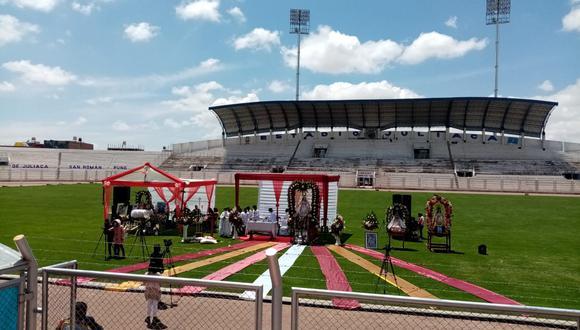 El estadio Guillermo Briceño fue epicentro de esta celebración religiosa. (Foto: Difusión)