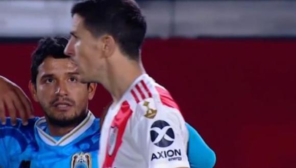 Reimond Manco quiso intercambiar camiseta con 'Nacho' Fernández tras derrota de Binacional por 8-0 (Foto: captura video Fox Sports)