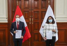 Violeta Bermúdez se reunió con Walter Martos para la transferencia de cargo de la PCM
