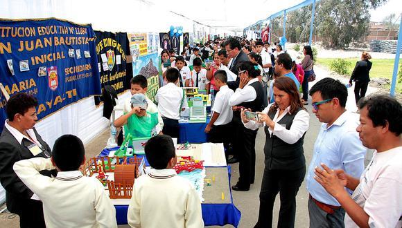 Chiclayo: Exhiben 197 proyectos en la II Feria Tecnológica Educativa