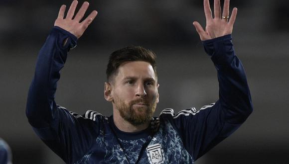 La camiseta que usará Argentina para chocar con la selección peruana. (Foto: AFP)
