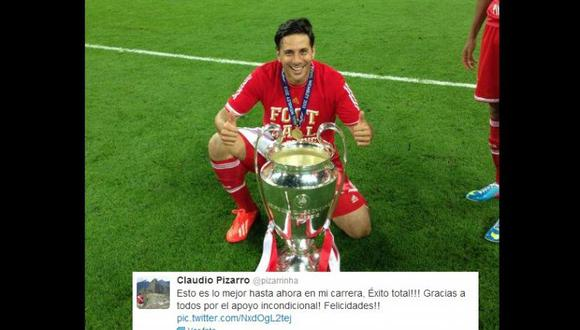 """Claudio Pizarro: """"Esto es lo mejor de mi carrera"""""""