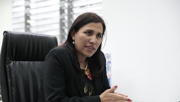 La exministra de Educación, Flor Pablo, es parte de la plancha presidencial de Julio Guzmán en las elecciones internas del Partido Morado. (Foto: GEC)