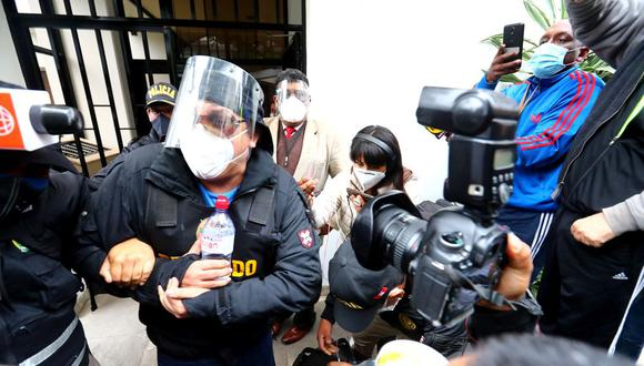 Poder Judicial evalúa la medida de apelación a la detención preliminar de investigados en el caso 'Richard Swing'. Foto: Hugo Curotto / @photo.gec