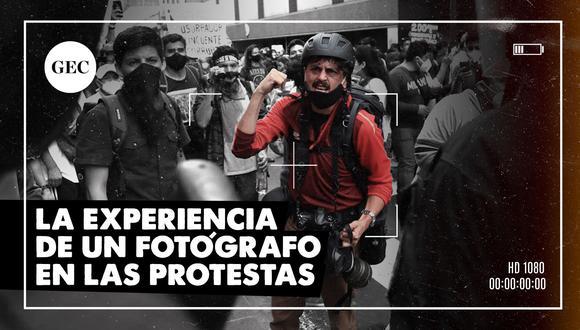 La experiencia de un fotógrafo desde el corazón de las protestas. (FOTO: GEC)
