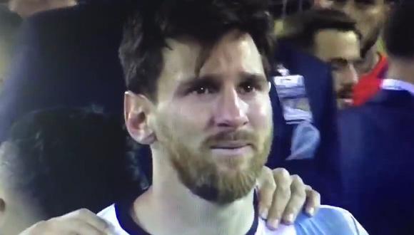 El llanto de Lionel Messi tras perder la Copa América Centenario (VIDEO)