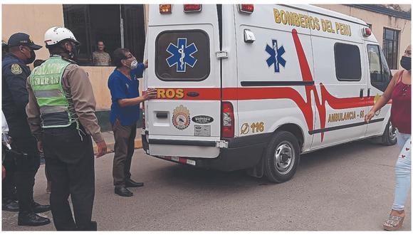Daniel Lavalle Tineo fue auxiliado por los bomberos quienes lo trasladaron al hospital de EsSalud donde se viene recuperando