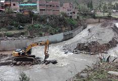 Río Sicra inunda obra inconclusa del Gobierno Regional de Huancavelica