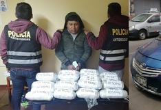 En persecución a taxi logran incautar 17 kilos de marihuana