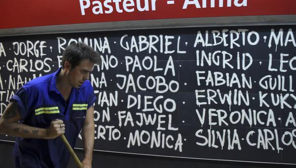 Kike Ferrari es un escritor galardonado que se gana la vida limpiando una estación de metro en Argentina. Sus novelas negras fueron traducidas a cuatro idiomas en seis países y recibieron premios en España y Cuba (Foto: Eitan Abramovich / AFP)