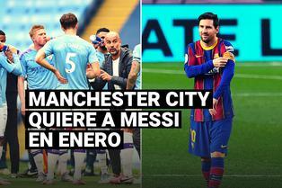 Manchester City buscará juntar a Lionel Messi y Josep Guardiola en enero