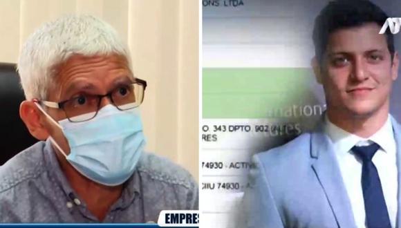 Denuncian que empleados de empresa de Gino Pesaressi se disfrazaron de trabajadores de limpieza para recibir vacuna COVID-19. (Foto: Captura ATV)