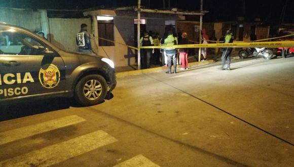 Disparan a tres personas y uno muere de ocho proyectiles en la provincia de Pisco.