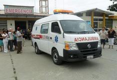 Cusco: bombero queda grave tras estallar extintor que maniobraba