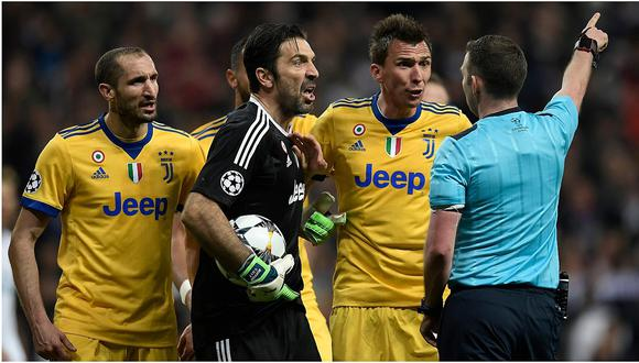 Gianluigi Buffon arremetió contra el árbitro por penal a favor del Real Madrid (FOTOS)